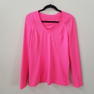 Zella   Pink long sleeve athletic top size large